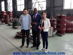 Dredger parts customer from Nigeria