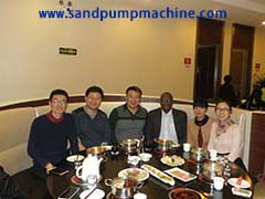 sand pump customer