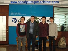Sand pump customer from Kazakhstan