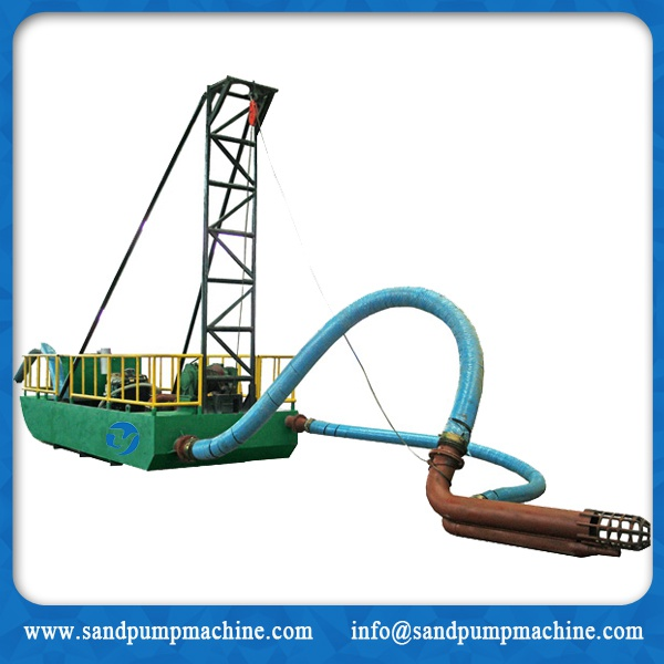 Portable sand suction dredger