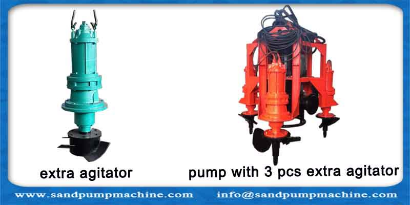Multiple agitators submersible slurry pump, Sand Pump