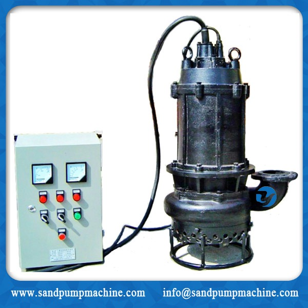 submersible slurry pump with bottom agitator