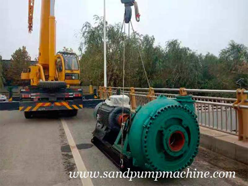 Ocean Brand Large Particle Sand Pump Sent to Jinan for Dredging Operation