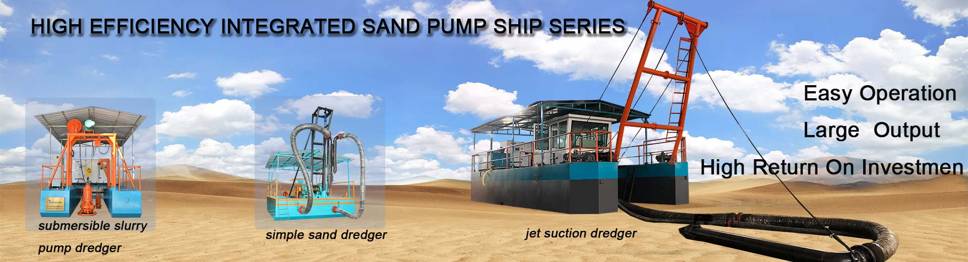 sand dredger banner